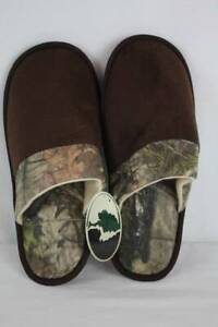 NEW-Mens-Slippers-Medium-Mossy-Oak-Camouflage-Scuffs-House-Shoes-In-Out-Sole