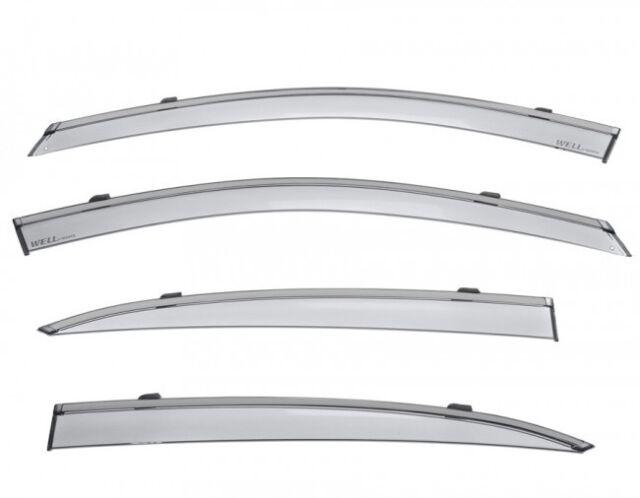 WellVisors For 15-Up Acura TLX BLACK TRIM Clip-On Side Window Visors Rain Guards