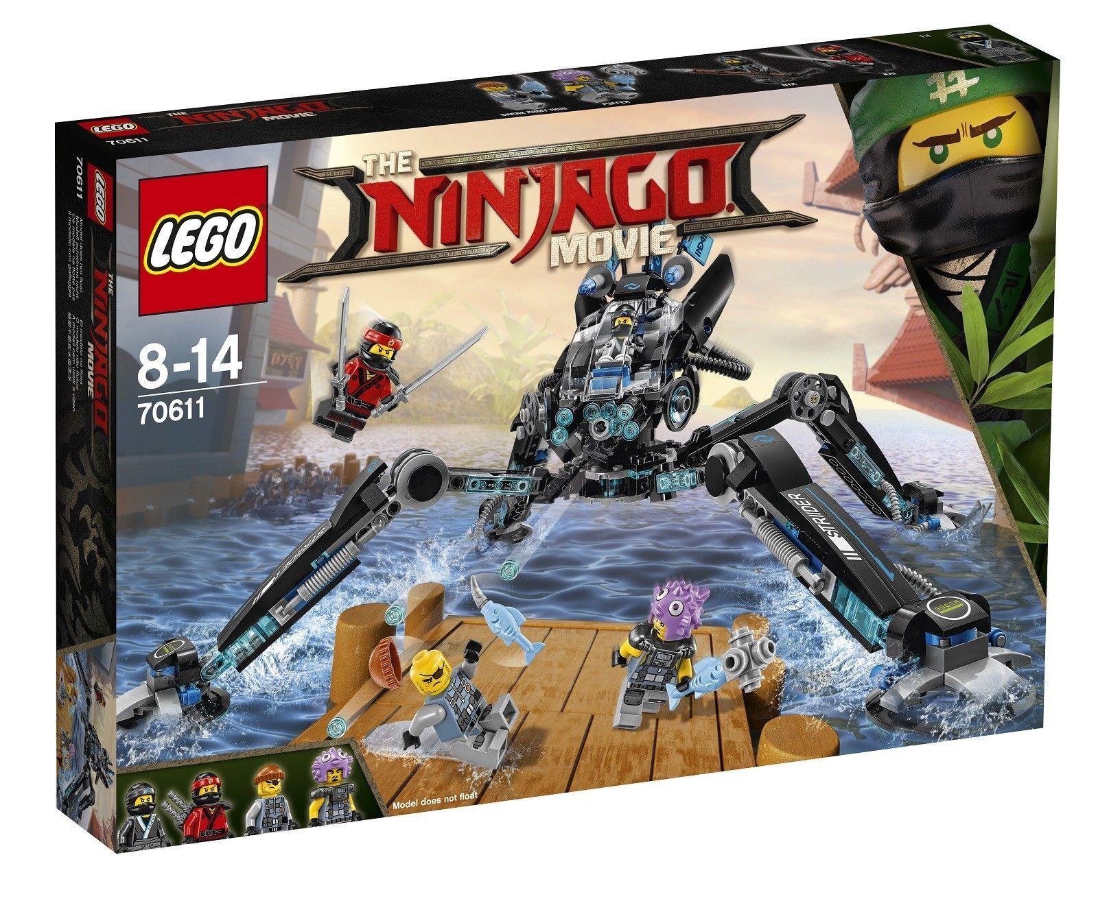 70611 Lego Ninjago Movie Water Strider 494 494 494 Pieces Age 8-14 Yrs a1e30e