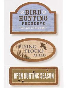 Karen Foster BIRD HUNTING OUTDOOR WOOD SIGNS stickers