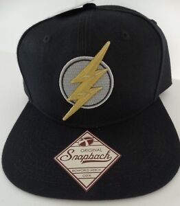 The Flash Embroidered Logo Justice League DC Comics Snap Back Black ... 2fa1673c1f1b