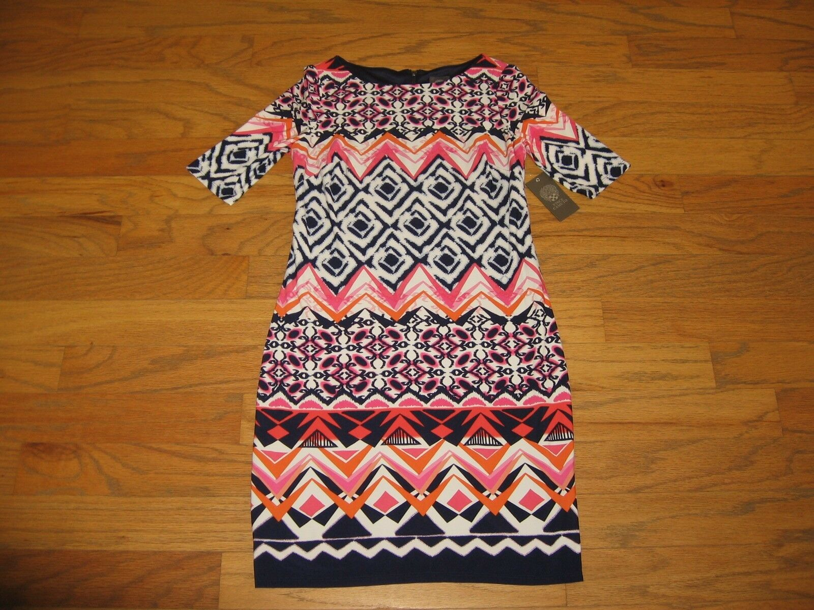 Vince Camuto Printed Shift Dress Woman Size 4 NWT MSRP 128