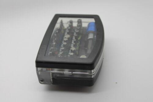Einrast Bit Halter in Box mit Gürtel 32 teil Bits Set Profi mit Magnetischem