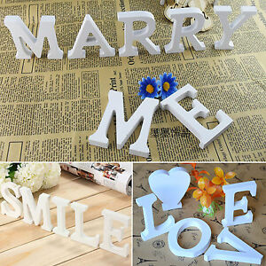 26 wood wooden alphabet letters words free standing signs for Alphabet decoration
