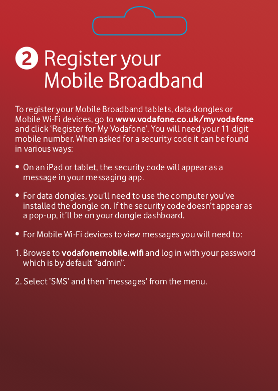 Vodafone 15gb Data SIM Mobile Broadband Pay as You Go  Valid for 90 Days