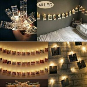 HGmart Photo Clip String Lights Battery Powered 40LED Fairy Twinkle Night Lights