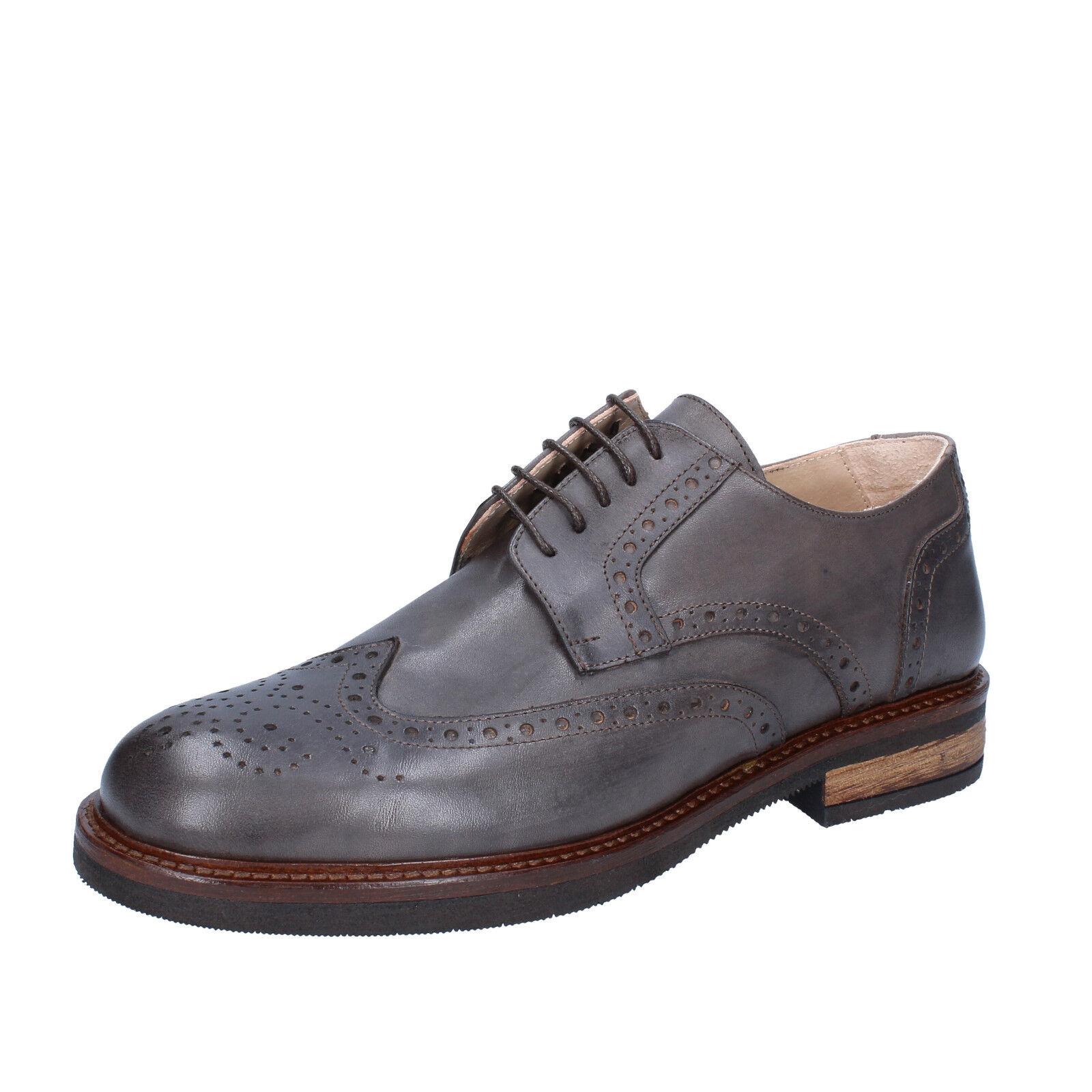 Scarpe uomo uomo uomo FDF scarpe 45 EU classiche grigio pelle BZ361-G   Vendita  76698a