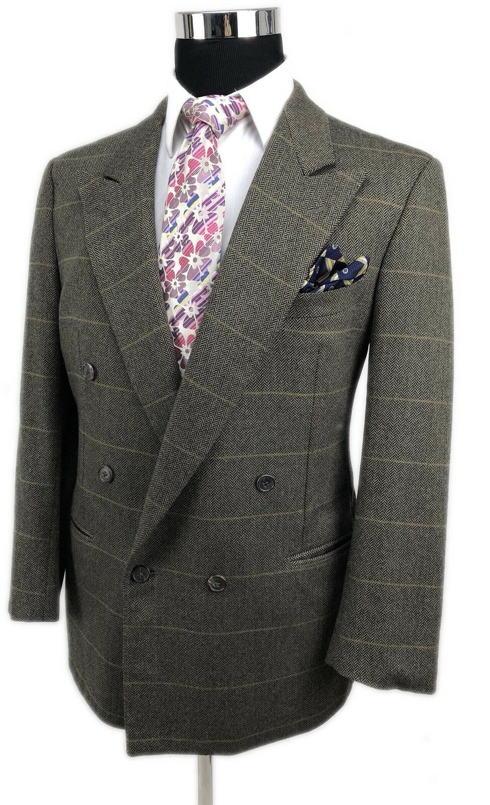 Ermenegildo Zegna Double Breasted 100% Cashmere Sport Coat Made In  40R