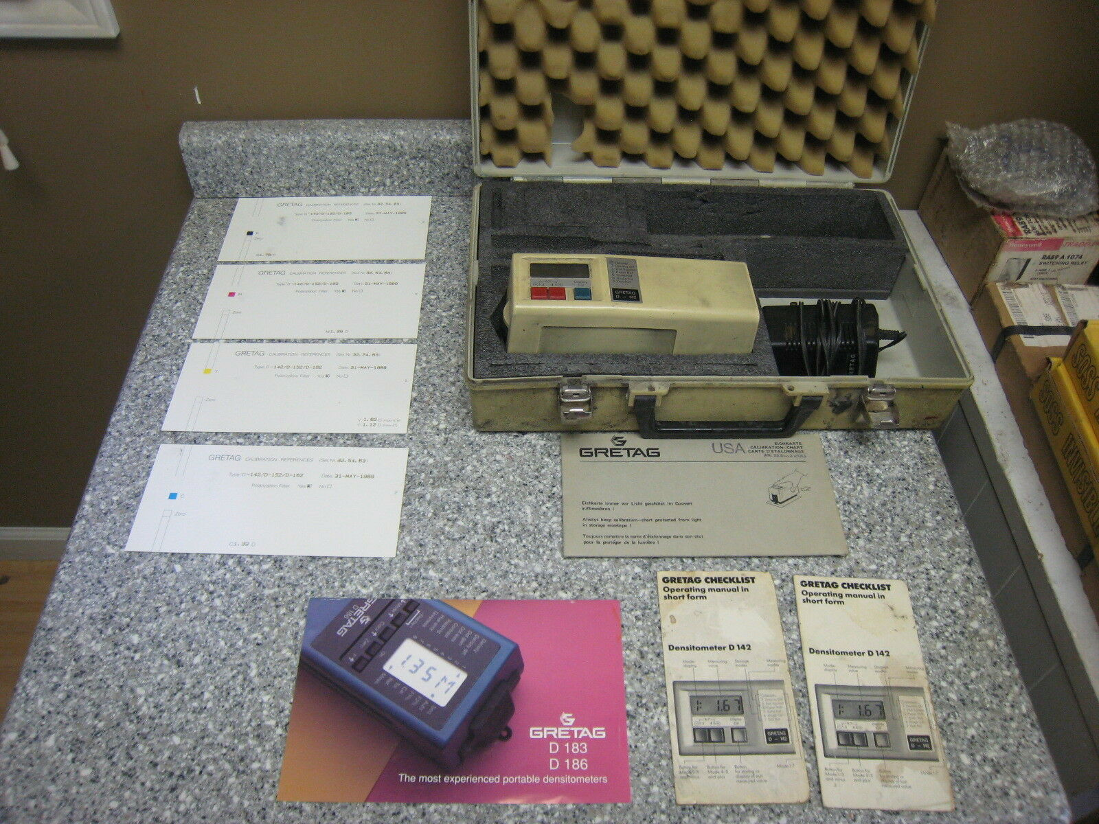 GRETAG D 186 Densitometer with Power Cord