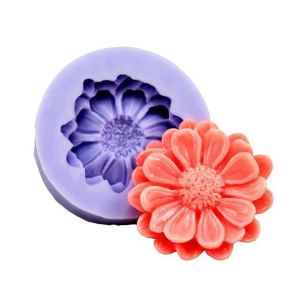 Hot Silicone One Flower Cake Polymer Clay Fondant Sugarcraft Mold Mould