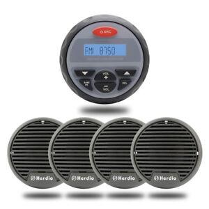 Herdio-4-inch-Waterproof-Marine-Audio-radio-4PCs-3-034-Boat-Golf-cart-Speaker