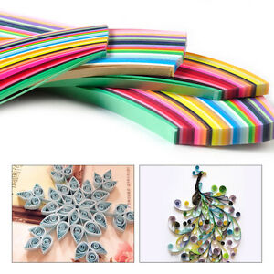 New-360-Strips-36-Colors-Paper-Craft-Art-Quilling-540mm-Length-3-5-7-10mm-Width