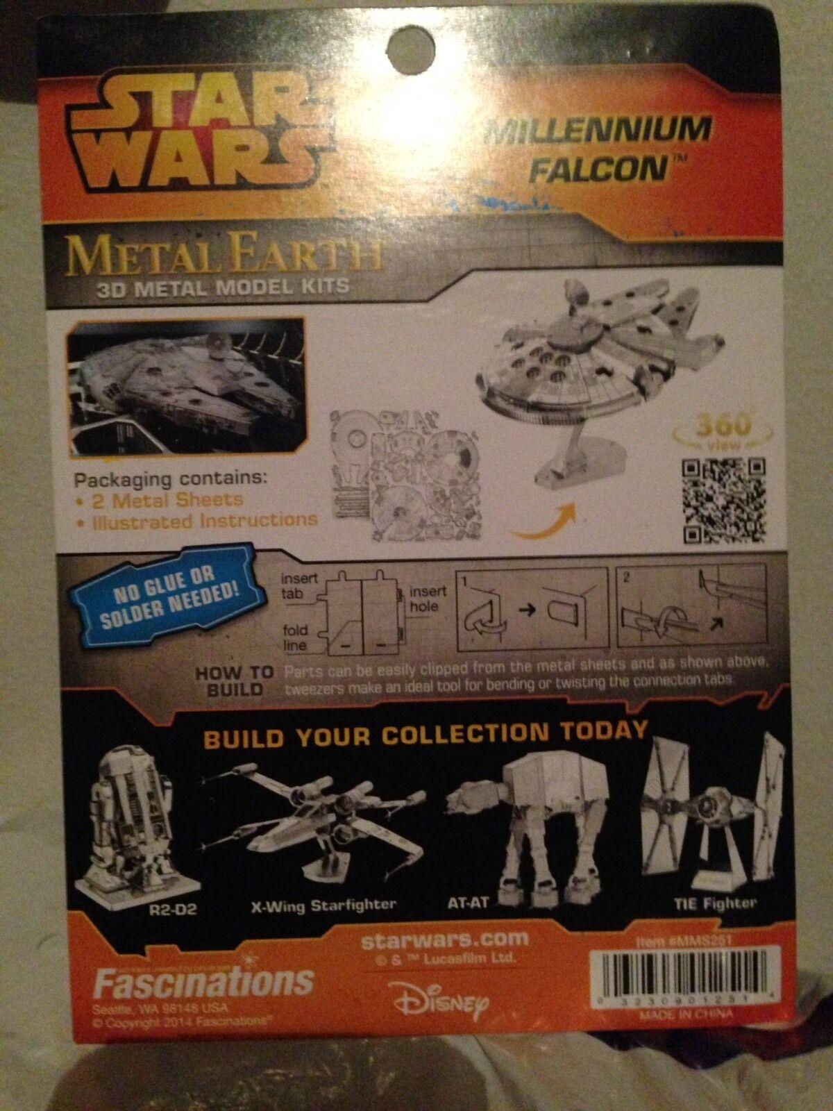 Brand New Star Wars R2D2 & The Millennium Falcon Falcon Falcon Metal Earth 3D Model Kit 45bf39