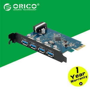 ORICO-4-Port-PCI-E-to-USB-3-0-Super-Speed-PCI-Express-Card-Adapter-VL800-For-PC