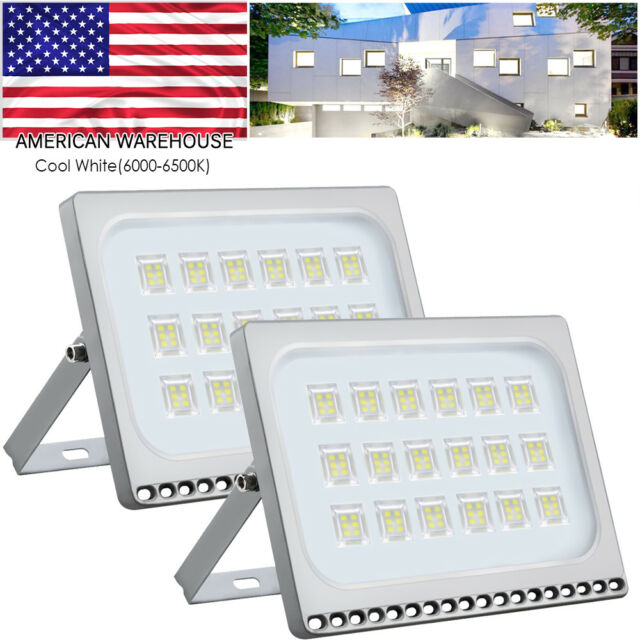 100w Cool White Waterproof Led Flood Light Outdoor Security Work Gym Lighting