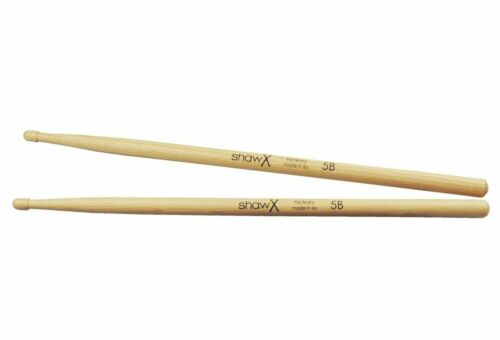 Shaw 5B Drumsticks Wood Tip x 2 Pairs