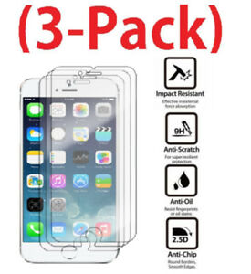 3-X-Premium-Real-Screen-Protector-Tempered-Glass-Film-For-iPhone-5-6-7-8-6s-plus