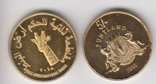 PUNTLAND 5 Shillings 2015 Giraffe unusual coinage
