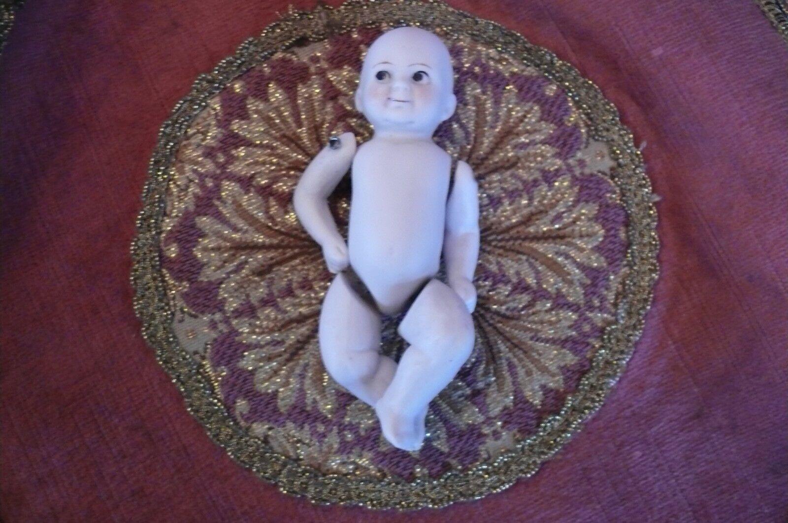 Adorable Antiguo Porcelana Galleta - , Muñeco 11059 3   O