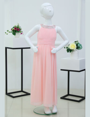 Flower Girl Princess Dress Kids Baby Wedding Bridesmaid Birthday Party Prom Gown