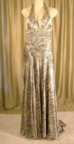Blush Vrije en 8 met Gold 9008 Black Sz By Prom V Print Alexa Rug Zebra Jurk hals rqZrTR