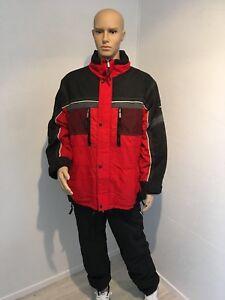 Eider-Veste-de-ski-rouge-et-noir-taille-54