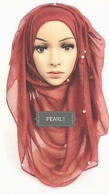 Hijab head scarf maxi shawl chiffon jersey lycra crimp cotton viscose silk SK01