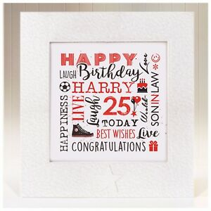 Details About Personalised Birthday Card Son In Law 21st 25th 30th 35th 40th 45th 50th 60th