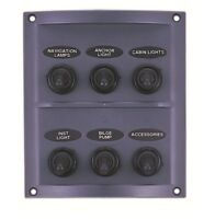 Marine 6 Gang Switch Panel 12V WATERPROOF /Boat / Yacht