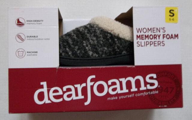 Dearfoams Memory Foam Slippers