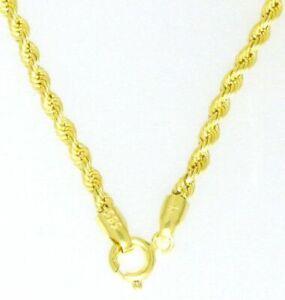 Gold-Halskette-Collier-Kordel-Kette-14Kt-Damen-amp-Kindeer-585-er-Neu-54-cm-chain