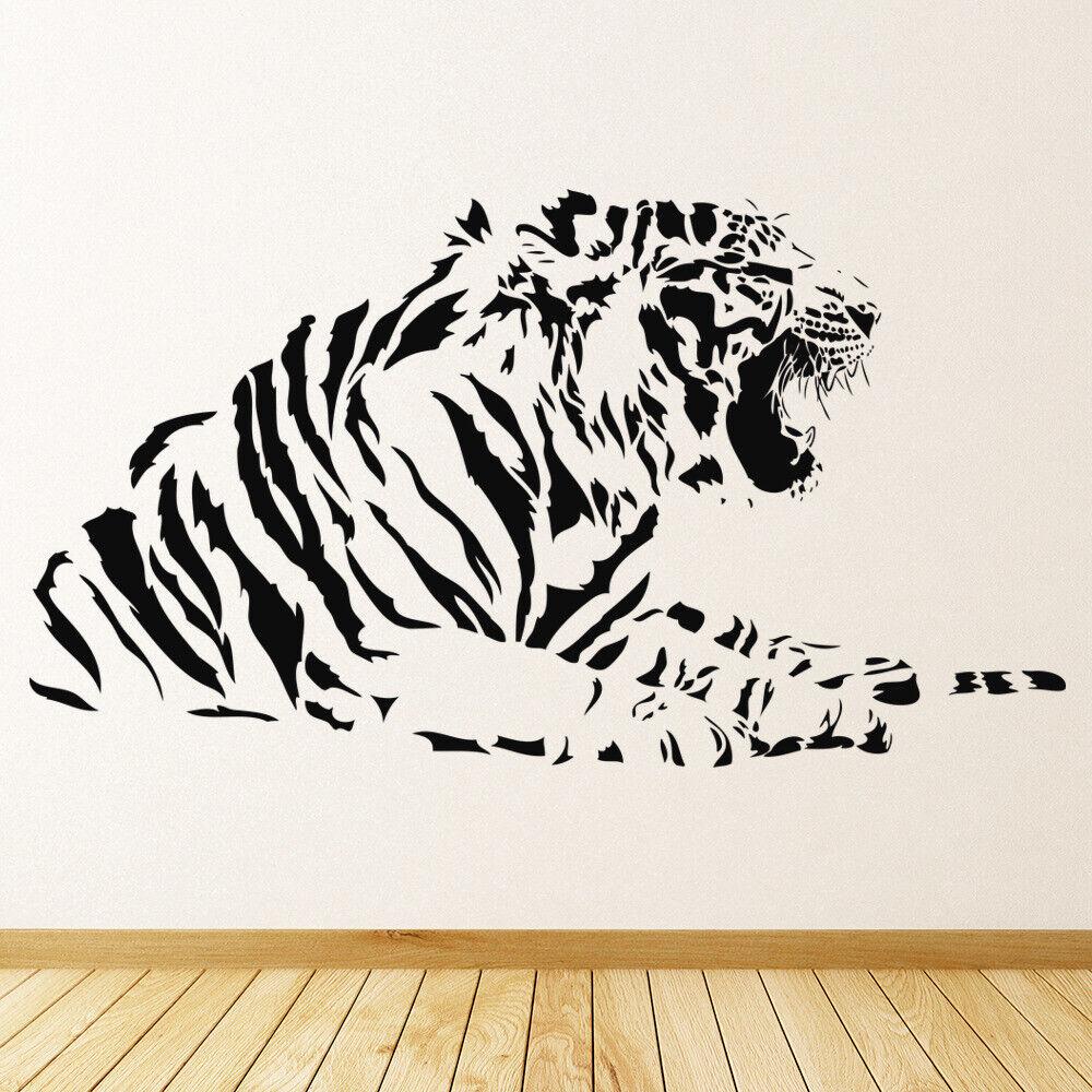 Growling Tiger Dschungel Tiere Wandtattoo WS-15891
