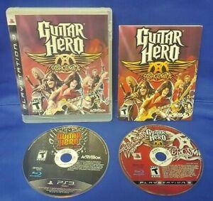 Guitar Hero Aerosmith + Warriors Game Lot PS3 Sony Playstation 3 Works