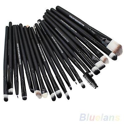 20 Pcs Pro Makeup Set Powder Foundation Eyeshadow Eyeliner Lip Cosmetic Brushes
