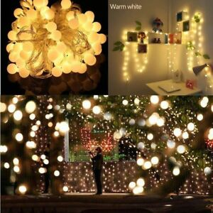 Globe-Outdoor-String-Lights-Patio-Party-Xmas-Yard-Waterproof-Solar-10-LED-Bulbs