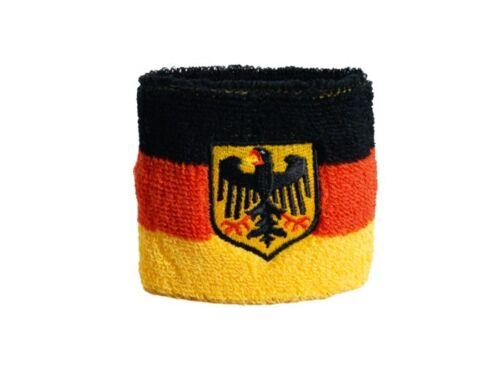 Schweißband drapeau drapeau Allemagne Avec Aigle 2er set 7x8cm Bracelet de sport
