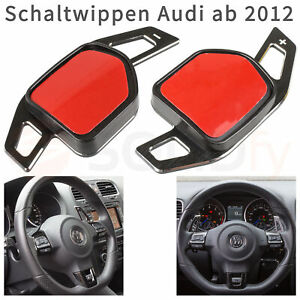 Schaltwippen-Alu-Schwarz-gebuerstet-DGS-Wheel-Paddle-Shift-Verlaengerung-Schaltung