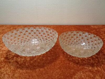 FleißIg 2 X Pressglas / Glas Schüssel - Vintage