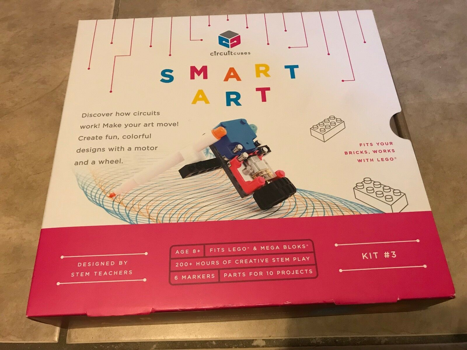 Circuit Cubes Smart Art Kit Age 8+ NEW factory sealed