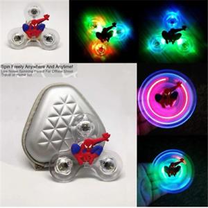 Spiderman-Crystal-Led-Light-Fidget-Spinner-Rainbow-EDC-Hand-Finger-Gyro-Toy-Hot