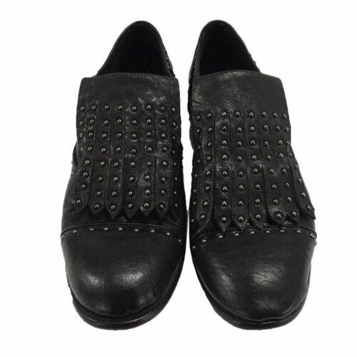 Chaussure Bordé 100 Et Femmes Noir Anthracite Kudeta' Cuir Goujons CBaqvqn