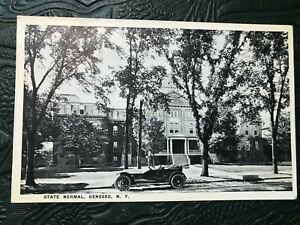 State Normal School Old Car Geneseo New York Ny Postcard Ebay