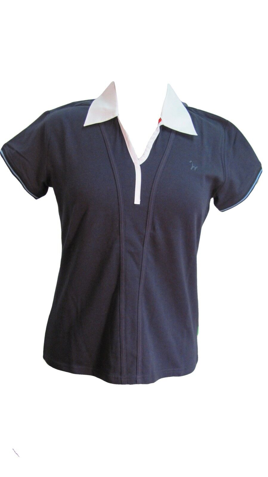 Isabell Werth Ideal Couture Equestrian Shirt, Navy, Short Sleeve, Womens L