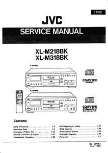 Tv, Video & Audio Service Manual-anleitung Für Jvc Xl-m218,xl-m318 Schmerzen Haben