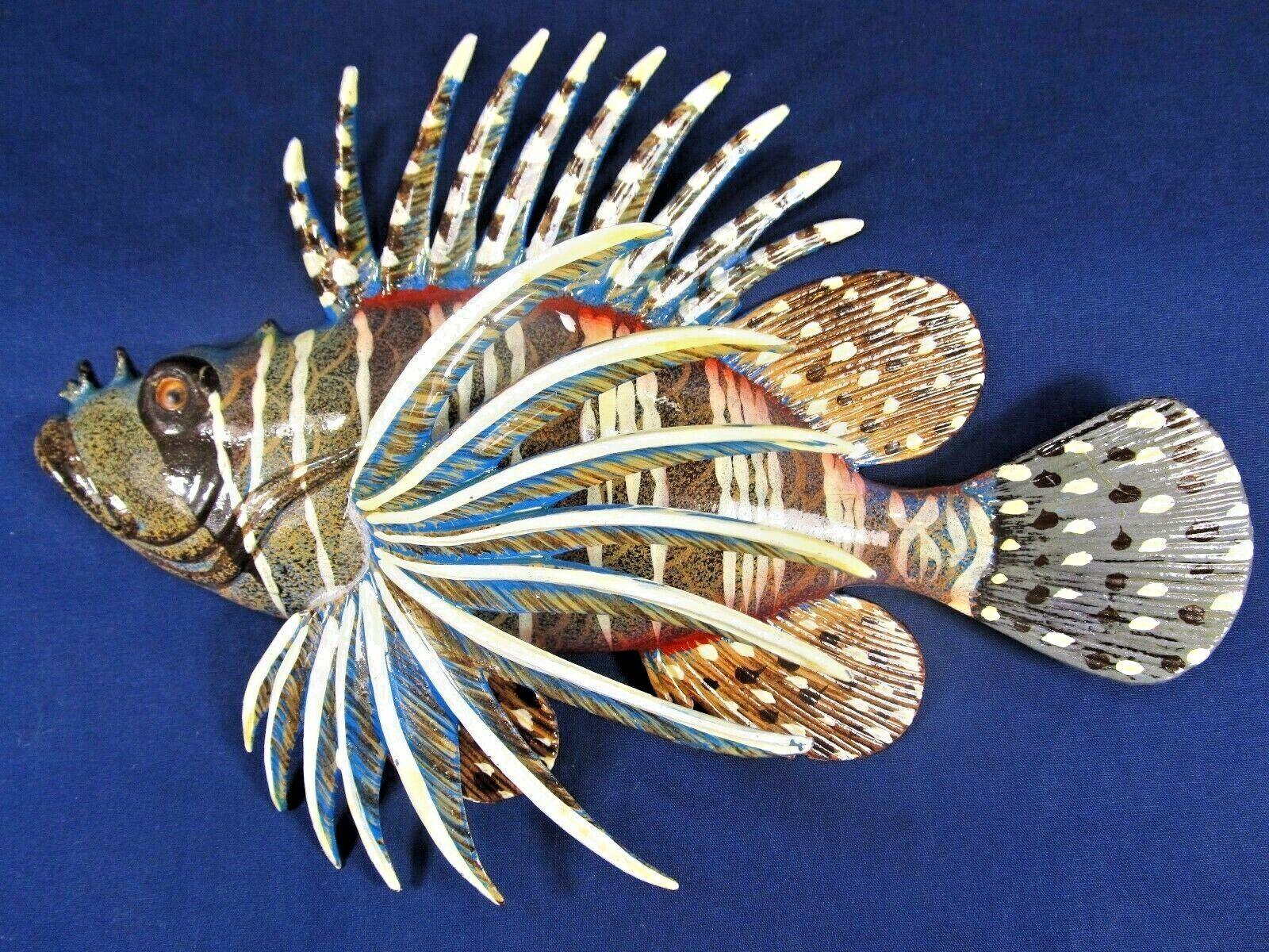 """8/"""" 3 Dimensional Tropical Lionfish Lion Fish Wall Mount Decor Plaque 64L"""