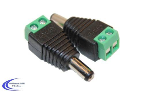 2er-Set DC Hohlstecker 5,5 x 2,1 mm Rundestecker Terminal Stiftstecker