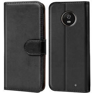 Book-Case-fuer-Motorola-Moto-X4-Huelle-Tasche-Flip-Cover-Handy-Schutz-Huelle