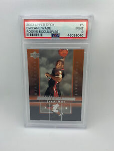 2003-Upper-Deck-Rookie-Exclusives-Dwayne-Wade-5-Rookie-Card-RC-PSA-9-Mint-HOF