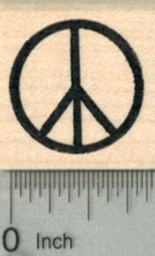 Peace Symbol Rubber Stamp A29911 WM