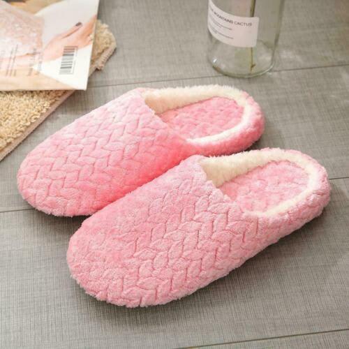 Women/'s Men House Shoes Soft Warm Fleece Winter Cotton Slippers Indoor Slip E6I5